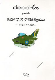 decal-la  Unknown TUDM North-American F-86/CA-27 Sabre for Hasegawa Eggplane DLAE02