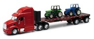 NewRay Diecast  1/32 Peterbilt 387 w/Flatbed Trailer & Farm Tractors (Die Cast) NRY10283
