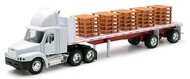 NewRay Diecast  1/32 Freightliner Century Class w/Flatbed Trailer & Pallet Load (Die Cast) NRY10593