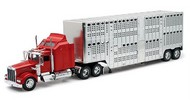 NewRay Diecast  1/32 Kenworth W900 w/Pot Belly Livestock Trailer (Die Cast) NRY10783