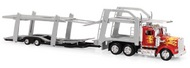NewRay Diecast  1/43 Kenworth W900 w/Dbl Decker Auto Carrier (Die Cast) NRY15213