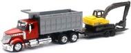 NewRay Diecast  1/43 Int'l Lonestar Dump Truck w/Excavator (Die Cast) (D) NRY16623
