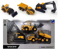 Construction Vehicle Set: A25G Articulated Dump Truck, EC140E Excavator, L60H Wheel Loader (Die Cast) #NRY32095