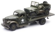 NewRay Diecast  1/32 1941 Chevrolet Military Flatbed truck w/Willys Jeep (Die Cast) NRY61053