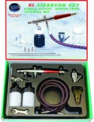 Single Action Internal Mix Airbrush Set w/3 Heads (SI-SET) #PAS14612