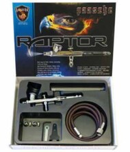 Raptor Gravity Feed Double Action Airbrush Set w/.25mm, .3mm Heads (RG3S) #PAS15670