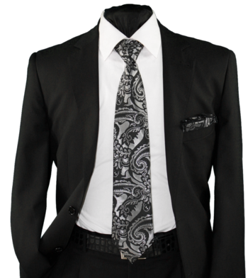 High Definition Tie with Round Hanky-19001 #HDMWTR-19001