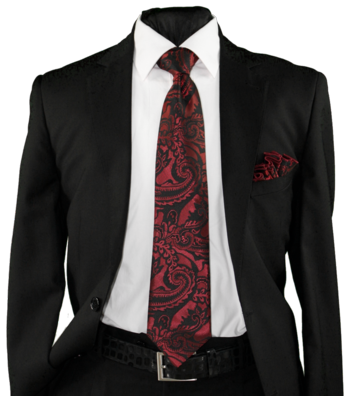 High Definition Tie with Round Hanky-19002 #HDMWTR-19002