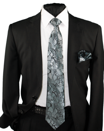 High Definition Tie with Round Hanky-19004 #HDMWTR-19004