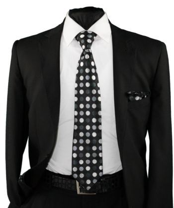 High Definition Tie with Round Hanky-19005 #HDMWTR-19005