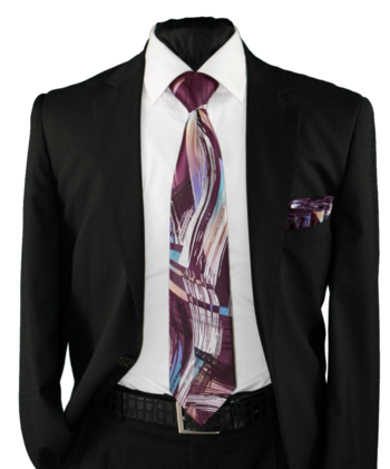 High Definition Tie with Round Hanky-19014 #HDMWTR-19014