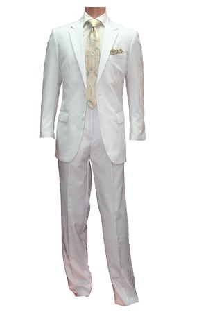 2pc 2button Basic Suit Only-White or Black 2pcsuitonly-WhiteorBlack