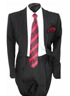 Business 2 Button Suit Black b2bsblk