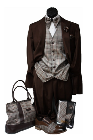 Classic 19-6 Suit -brown CL19-6brown