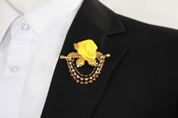Flower Chain Lapel - Yellow FCL-Yellow