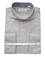 Cutaway Collar Shirts-Grey SC007-cutawaysolid