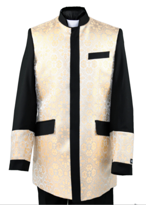 Clergy Jacket Black/Cream clergyjacketbc