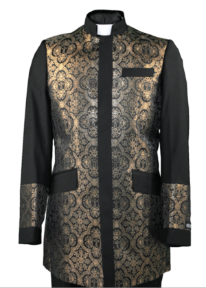 Clergy Jacket Black/Gold clergyjacketbg