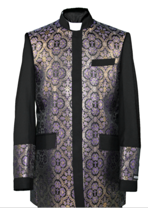 Clergy Jacket Black/Purple clergyjacketbp