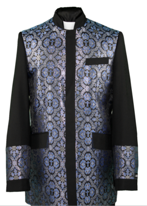 Clergy Jacket Black/Royal Blue clergyjacketbrb