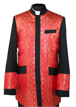 Clergy Jacket Black/Red clergyjacketbr