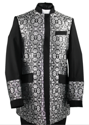 Clergy Jacket Black/Silver clergyjacketbs