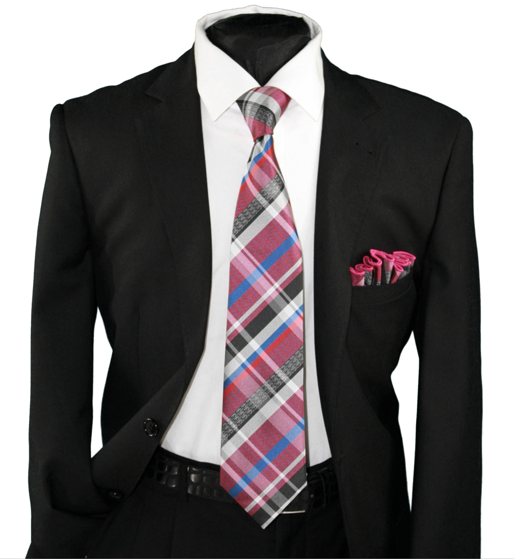 High Definition Tie with Round Hanky-19123 HDMWTR-19123