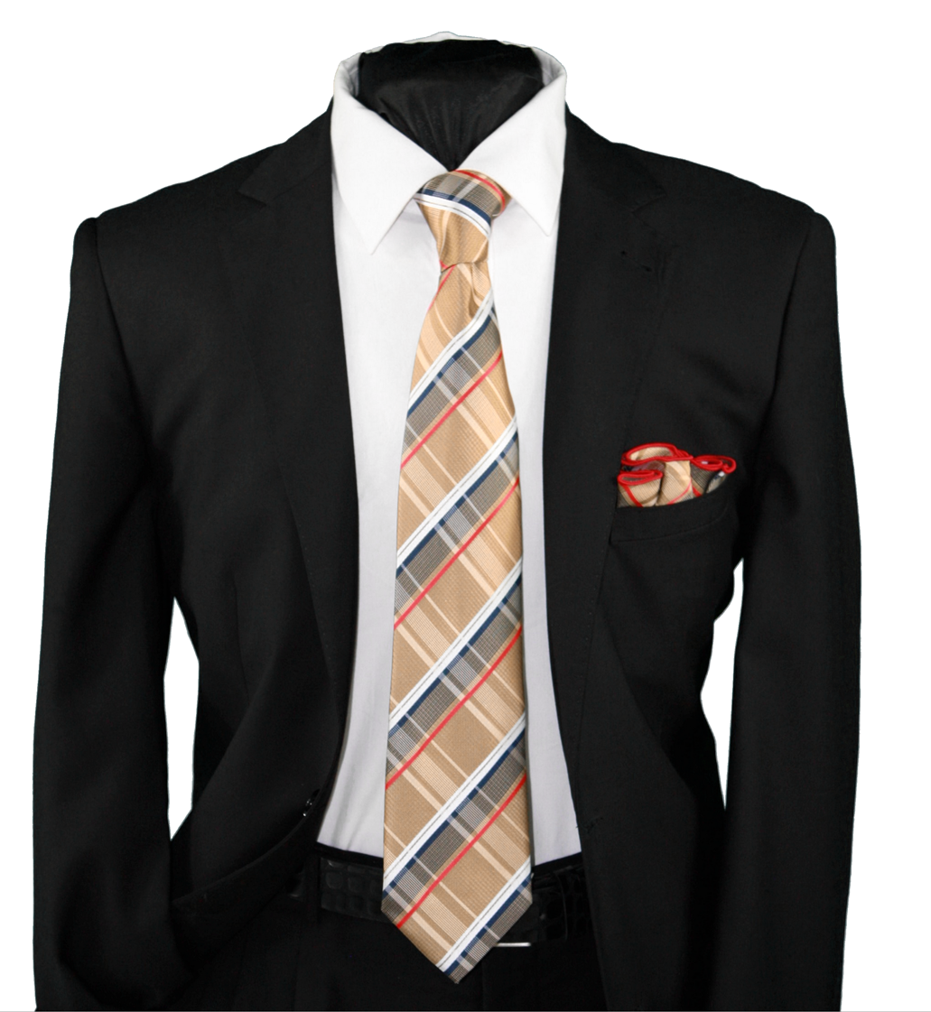 High Definition Tie with Round Hanky-19124 HDMWTR-19124