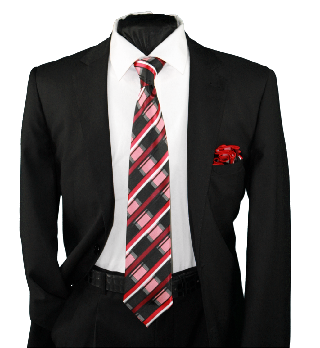 High Definition Tie with Round Hanky-19129 HDMWTR-19129