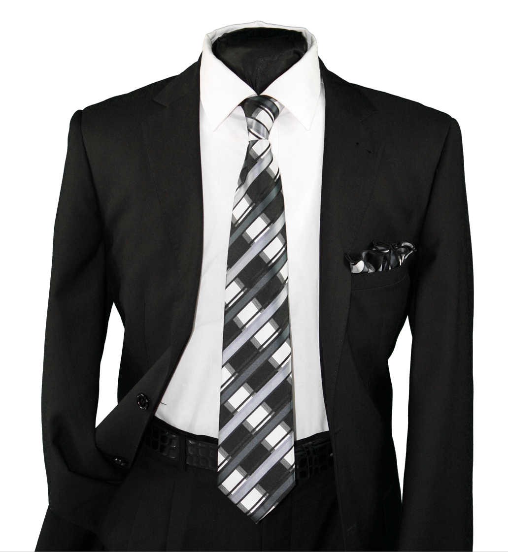 High Definition Tie with Round Hanky-19130 HDMWTR-19130