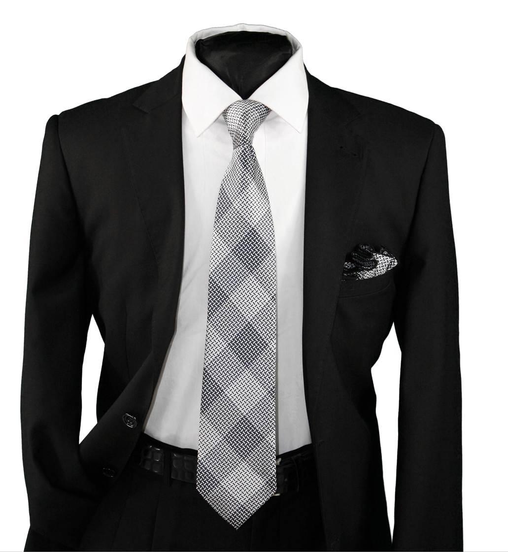 High Definition Tie with Round Hanky-19131 HDMWTR-19131