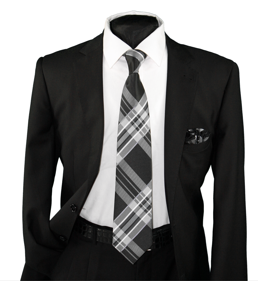 High Definition Tie with Round Hanky-19133 HDMWTR-19133