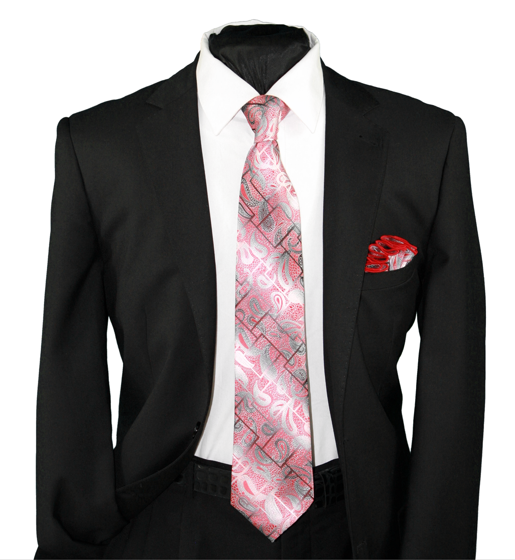 High Definition Tie with Round Hanky-19140 HDMWTR-19140