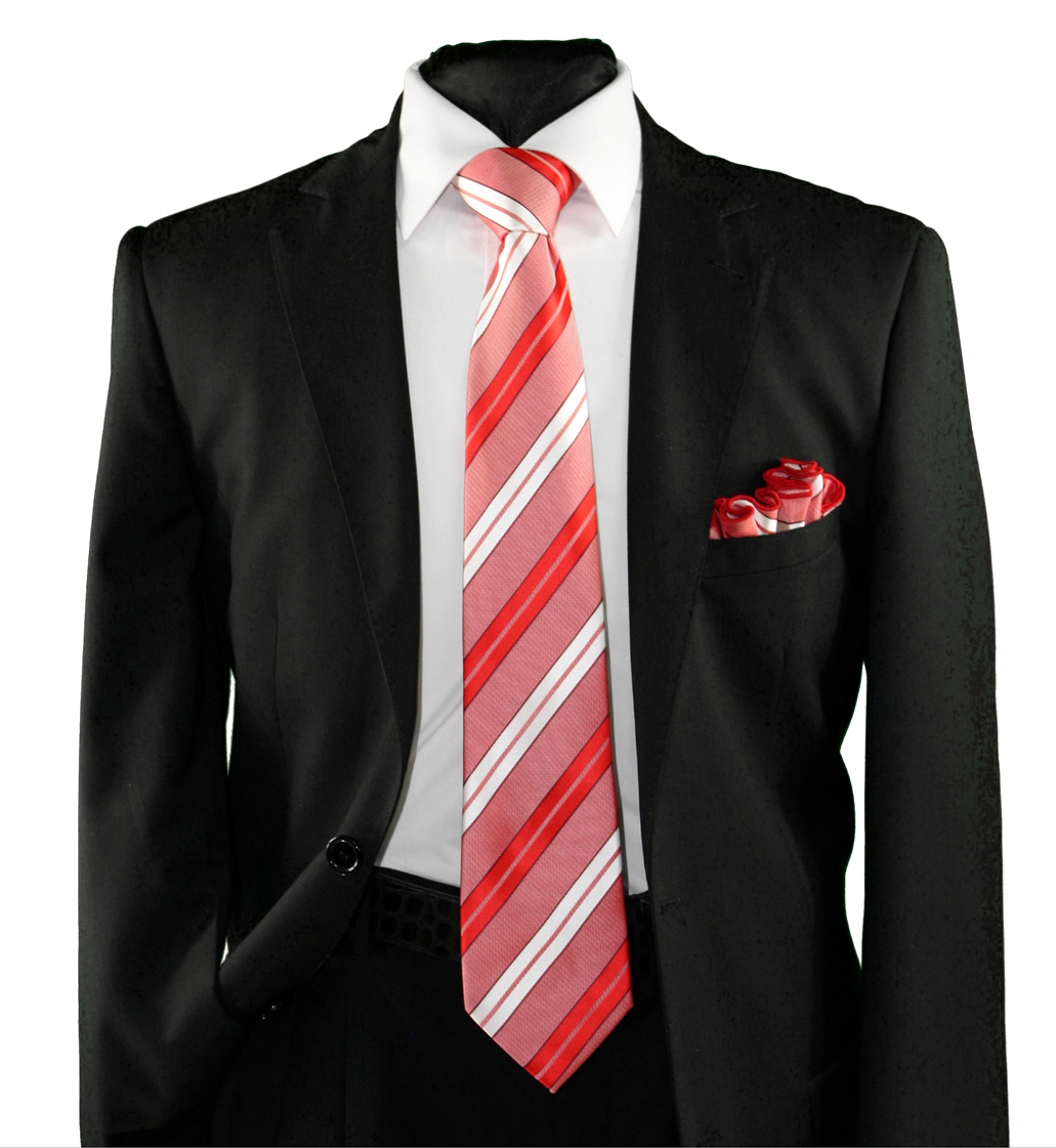 High Definition Tie with Round Hanky-19144 HDMWTR-19144