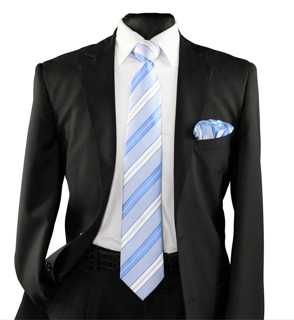 High Definition Tie with Round Hanky-19145 HDMWTR-19145