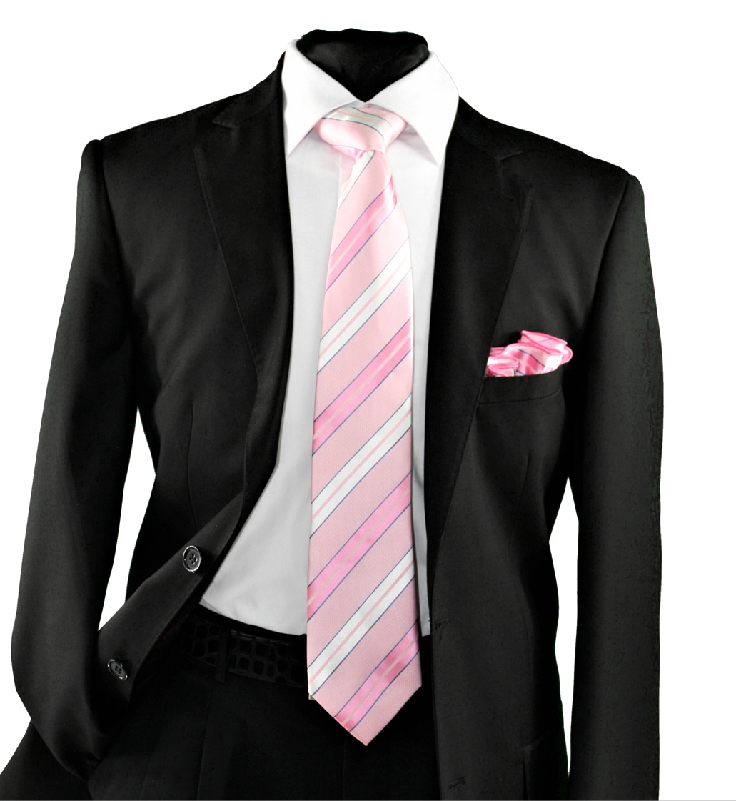 High Definition Tie with Round Hanky-19146 HDMWTR-19146
