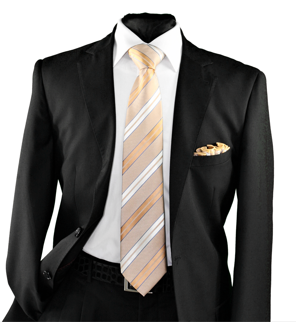 High Definition Tie with Round Hanky-19147 HDMWTR-19147