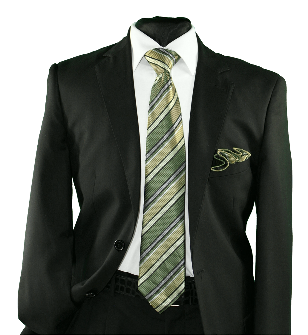 High Definition Tie with Round Hanky-19149 HDMWTR-19149