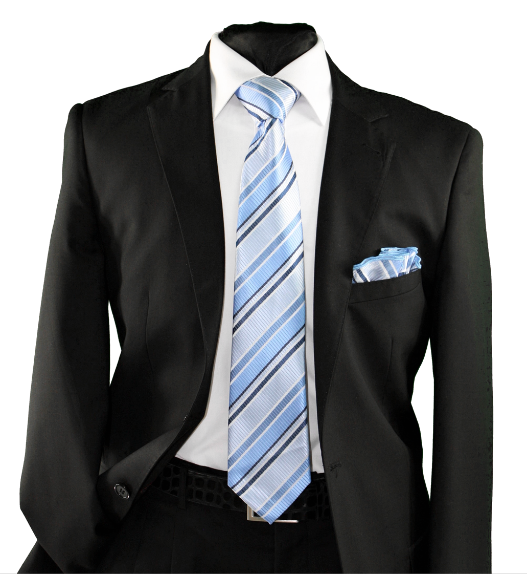 High Definition Tie with Round Hanky-19150 HDMWTR-19150
