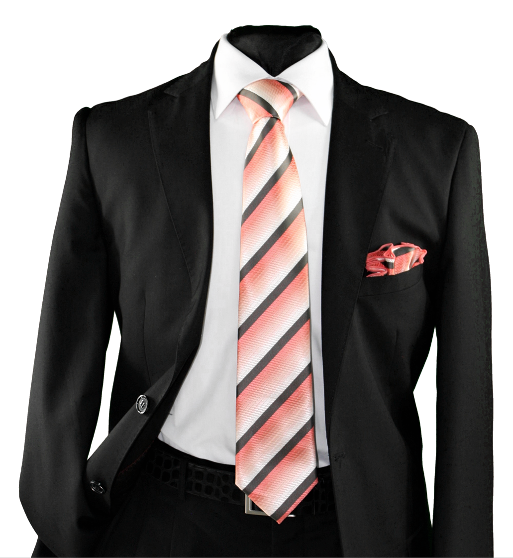 High Definition Tie with Round Hanky-19151 HDMWTR-19151