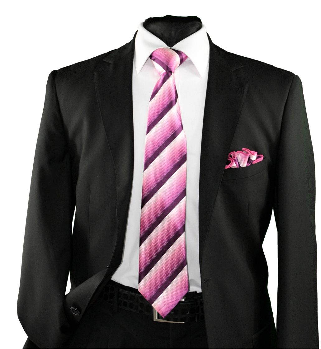 High Definition Tie with Round Hanky-19152 HDMWTR-19152