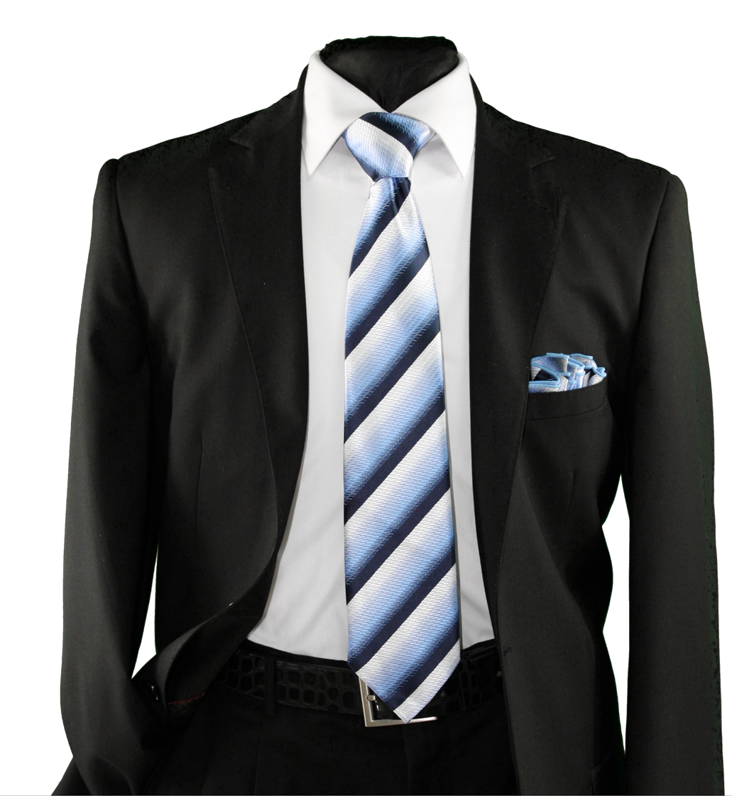 High Definition Tie with Round Hanky-19153 HDMWTR-19153