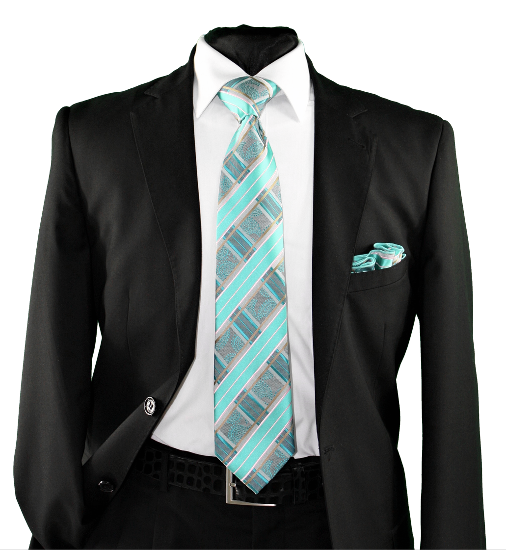 High Definition Tie with Round Hanky-19155 HDMWTR-19155
