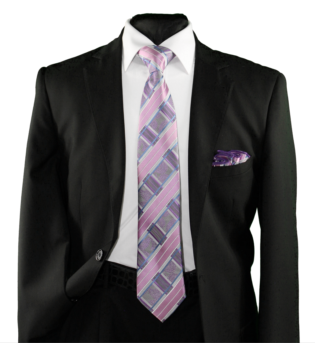 High Definition Tie with Round Hanky-19157 HDMWTR-19157