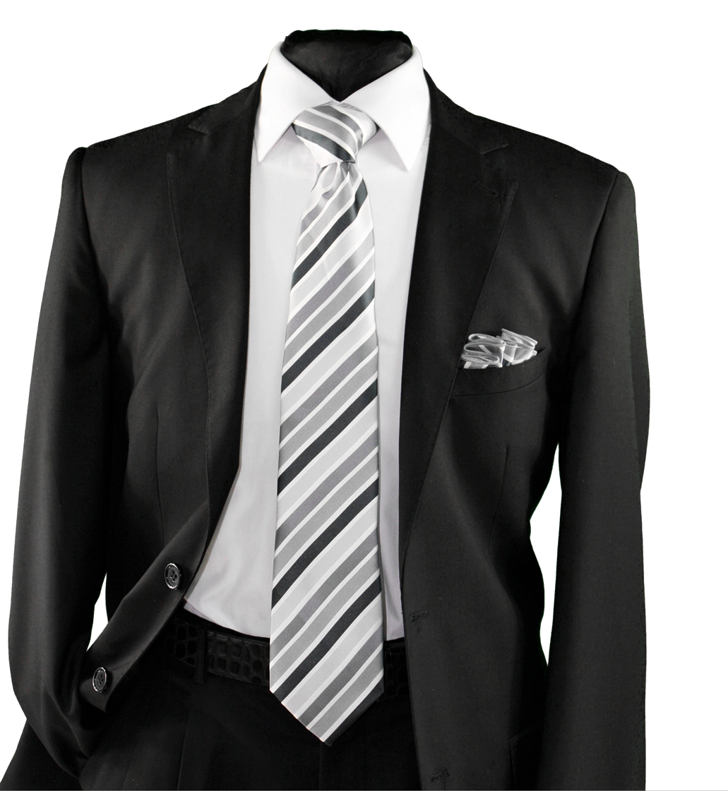 High Definition Tie with Round Hanky-19159 HDMWTR-19159