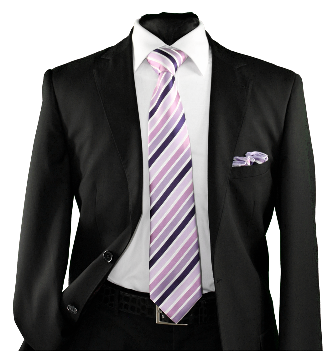 High Definition Tie with Round Hanky-19160 HDMWTR-19160