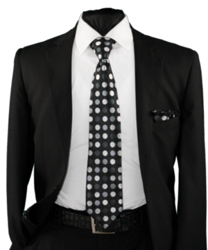 High Definition Tie with Round Hanky-19005 HDMWTR-19005