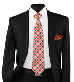 High Definition Tie with Round Hanky-19006 HDMWTR-19006