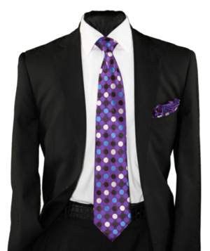 High Definition Tie with Round Hanky-19008 HDMWTR-19008