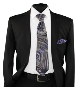 High Definition Tie with Round Hanky-19019 HDMWTR-19019